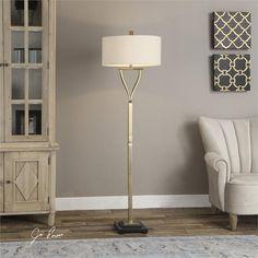 Uttermost Arguello Brushed Brass Floor Lamp (28639-1)