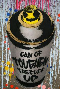 Banksy's Cans Festival. Graffiti Flowers, Love Graffiti, Graffiti Designs, Graffiti Drawing, Street Art Graffiti, Graffiti Room, Graffiti Artwork, Spray Tattoo, Stoner Art