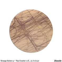 Grunge Series-4--- Tan Coaster 1 of many colors