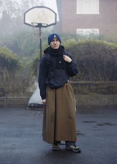 A travelling monk photographed in London, Canning Town. Photography by Danny J. Peace