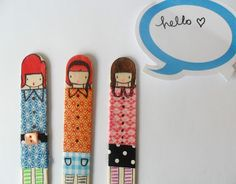 you will need....large wooden lolly sticks   pens,washi tapes, buttons, trims           ....draw on your fabulous hairdo usin...