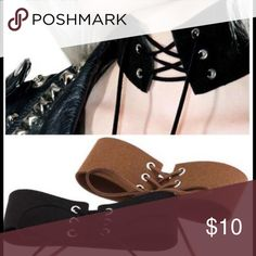 Trendy sexy choker Black sexy lace up shocker . Jewelry Necklaces