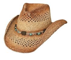 165356d4386df Coral Reef Straw Cowgirl Hat
