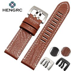 >> Click to Buy << HENGRC Hot Sell Genuine Leather Watch Strap Band 23mm Men New Black Brown Watchband Belt Metal Needle Buckle For Luminox #Affiliate