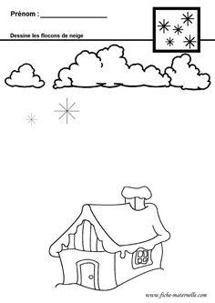 Graphisme en maternelle : flocons de neige