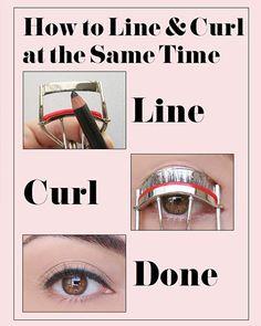 eyeliner-on-eyelash-curler-hack