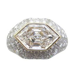 Bulgari Diamond Ring | From a unique collection of vintage more rings at http://www.1stdibs.com/jewelry/rings/more-rings/