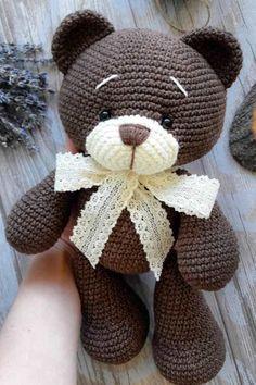 СХЕМА вязания мишки крючком #схемыамигуруми #амигуруми #вязаныеигрушки #вязаныймишка #amigurumipattern #amigurumi #crochetbear #amigurumibear #crochetpattern #amigurumitoy #freeamigurumipatterns Crochet Teddy Bear Pattern, Crochet Dolls Free Patterns, Baby Knitting Patterns, Crochet Toys, Crochet Animals, Free Knitting, Plush Pattern, Doll Patterns, Free Baby Blanket Patterns