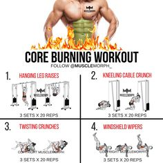 Core burning workout abs workout 6 pack workout musclemorph https://musclemorphsupps.com