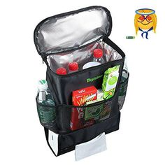 #baby Made of durable polyester, this organizer bag comes with enough #pockets and compartments to help you stash and stow everything your passengers need to mak...