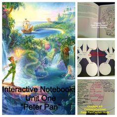 """6th Grade ELA Common Core Curriculum: Unit 1: I Won't Grow Up The first chapter of """"Peter Pan"""" lends itself to a great beginning of the year notebook entry-the part where it describes Mrs. Darling tidying up her children's minds before bed is great for opening a dialog about schema and getting to know your students."""