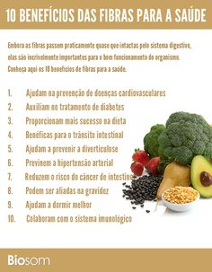 Clique na imagem e veja os 10 benefícios da fibra para a saúde. #fibras #saúde…