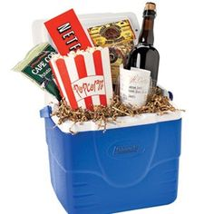 Fathers Day Gift--cooler full of goodies for Dad--or use a large popcorn bucket and make it movie themed!