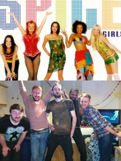 Group Of Guys Recreate Spice Girls Photo Shoots