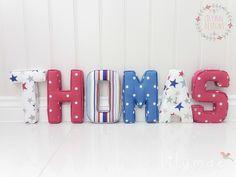 Lilymae Designs Handmade Fabric Letters   www.lilymaedesigns.co.uk  https://www.etsy.com/uk/shop/LilyMaeDesign