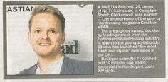 Martin featured in the Islington Gazette