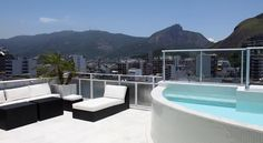 Located 200 metres from Rio de Janeiro's Ipanema Beach, Ipanema Penthouse 037 is a 2-storey penthouse offering a private terrace with an outdoor pool. Free WiFi access is available.  This modern self-catering accommodation features 3 bedrooms, one of which is directly connected to the terrace with a panoramic view of the city. With sophisticated décor, the living room comes with a flat-screen TV with cable channels, a DVD player and high quality furniture.