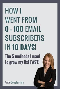 How I went from 0 - 100 email subscribers in 10 days. 5 methods to grow your email list fast!