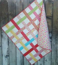 Riley Blake Designs -- Cutting Corners: Woven Ladybug Garden, Quilt as You Go, Baby Blanket