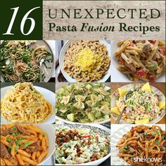 !12 Unexpected pasta fusion recipes!