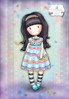 Cute Girl Drawing, Cartoon Girl Drawing, Girl Cartoon, Cute Drawings, Cute Images, Cute Pictures, Santoro London, Little Doll, Cute Cartoon Wallpapers