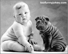 Two little cuties, baby and sharpei / photo: Anne Geddes on Photobucket So Cute Baby, Cute Kids, Funny Kids, Adorable Babies, Pretty Baby, Anne Geddes, Chubby Babies, Fur Babies, Babies Pics