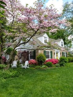 A house to dream about --in all it's spring glory...........
