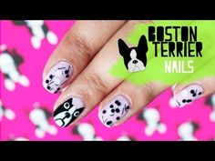 How to draw a Boston Terrier on your nails ♥ Fashion Trend 2013