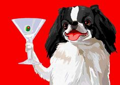 Japanese Chin on Etsy, $20.00