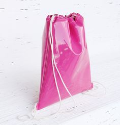 Hot pink drawstring backpack for women & girls Eco by Dagabags