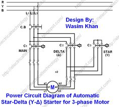 Automatic Star / Delta Starter (Y-Δ) with Timer for Induction Motor - Star - Delta Starter Wiring, Power & Control Wiring & Connection Diagrams. How to wire Star Delta Starter with Three Phase AC Motors? Electrical Installation, Electrical Wiring, Electrical Symbols, Electronic Engineering, Electrical Engineering, Control Engineering, Delta Connection, Ac Circuit, Toroidal Transformer