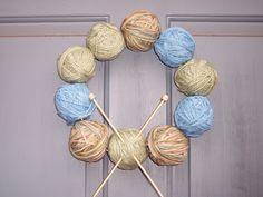 Peace, Love & Understanding: Yarn Ball Wreath