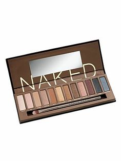 Urban Decay Naked 1 Makeup Palette Cosmetics Professional Eye Shadow - found at Ulta or Sephora Naked Palette, Eye Palette, Eyeshadow Palette, Eyeshadow Set, Neutral Eyeshadow, Sparkle Eyeshadow, Smokey Eyeshadow, Metallic Eyeshadow, Eyeshadow Primer