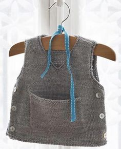 Baby Knitting Patterns Sweaters That spelling is a lot of little man vests and cardigans. Baby Knitting Patterns, Knitting For Kids, Baby Patterns, Crochet Baby, Knit Crochet, Tricot Baby, Knit Vest, Cardigan Pattern, Baby Sweaters