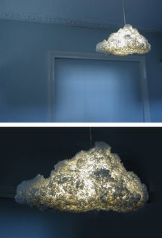 Styrofoam cloud lamp. DIY?