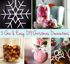 5 chic and easy DIY holiday decorations!