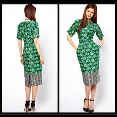 FINAL PRICE - ASOS Wiggle Dress Sold Out ASOS Wiggle dress in border wallpaper print. Product Code 292932 ASOS Dresses Midi