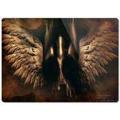 Angel Good vs Evil Glass Cutting Board