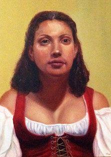 Protrait paintings of Leslie Margolis - The Barmaid