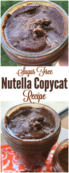 Sugar Free Nutella Copycat Recipe Aka:  Sugar Free Hazelnut Spread Recipe that's perfect for people doing the keto diet or low carb diet! via @isavea2z