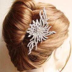 Statement Bridal Hair Comb, Wedding Hairpiece, Bridal Hair Accessories, Vintage Bridal,  Art Deco Headpiece, GISELLE