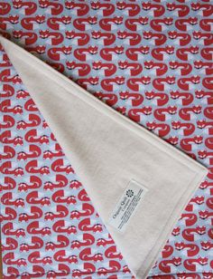Organic Baby Blanket in FOXY TOO by organicquiltcompany on Etsy, $49.50