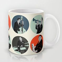 Jazz Special Mug Classic Ceramic Material Coffee or Tea Cup
