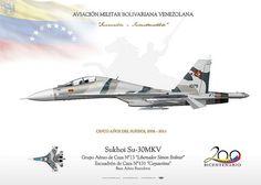 """TC-168-Venezuela Su-30MKV-2 AVIACIÓN MILITAR BOLIVARIANA VENEZOLANA Sukhoi Su-30MKV Grupo Aéreo de Caza N°13 """"Libertador Simon Bolivar"""" Escuadrón de Caza N°131 """"Cayaurima"""" Base Aérea Barcelona"""