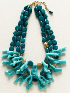 Ann Taylor Loft coral necklace.
