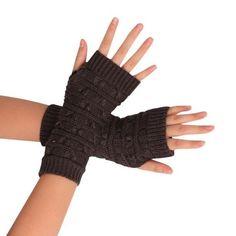ce9113d386b94 Fashion Men Women Knitted Arm Gloves Fingerless Gloves Unisex Soft Warm  Mittens gloves women winter gants