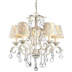 Elegant Kronleuchter Velvet Cream gold #kronleuchter #schirm