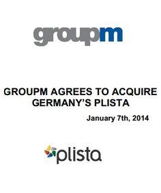 Lange wurde bereits über einen Exit von plista gesprochen. Jetzt ist es soweit, die GroupM übernimmt plista.