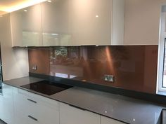 Complete your Kitchen with 7 Days Easily. Any kind of Kitchen Splashback. Made to Measure. Bright Kitchens, Dream Kitchens, Copper Splashback Kitchen, Kitchen Ideas, Kitchen Decor, Home, Design, Houses, Ad Home