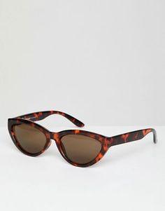 f37f6d4f0 Weekday cat eye sunglasses in turtle brown Óculos De Sol Retro, Óculos De  Sol Do
